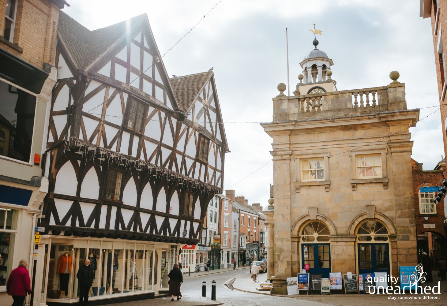 The High street in Ludlow shows why it is one of the most picturesque market towns in England