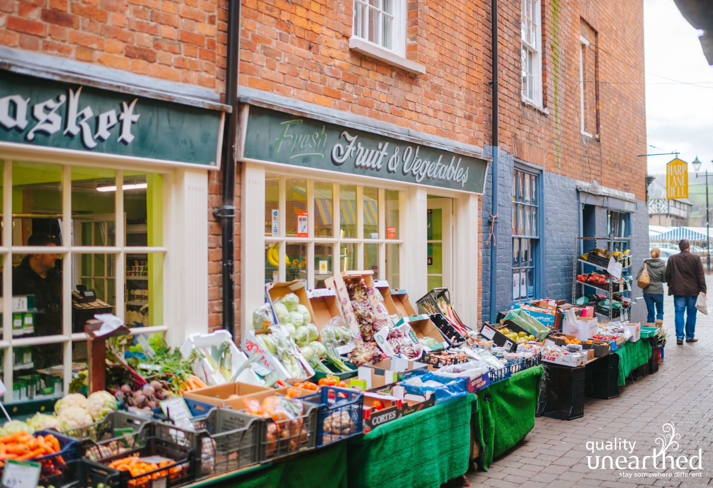 A classic grocers in Ludlow, only 6 miles from this Shropshire geodome