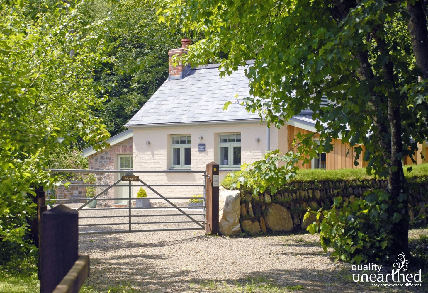 Solva holiday home in secluded woodlands