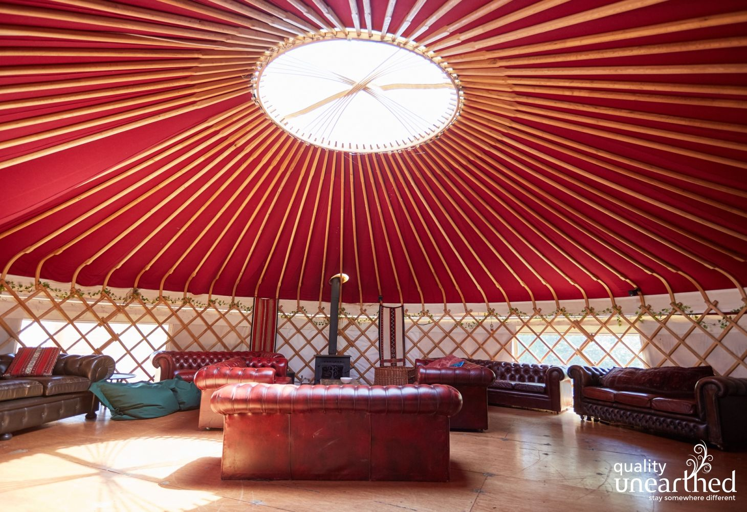 Plush Yurt in West Sussex