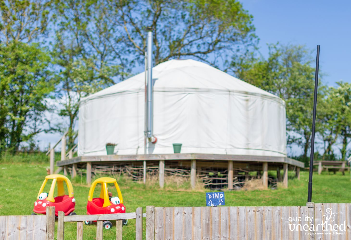 Family Yurts - Dino District in Isle of Wight