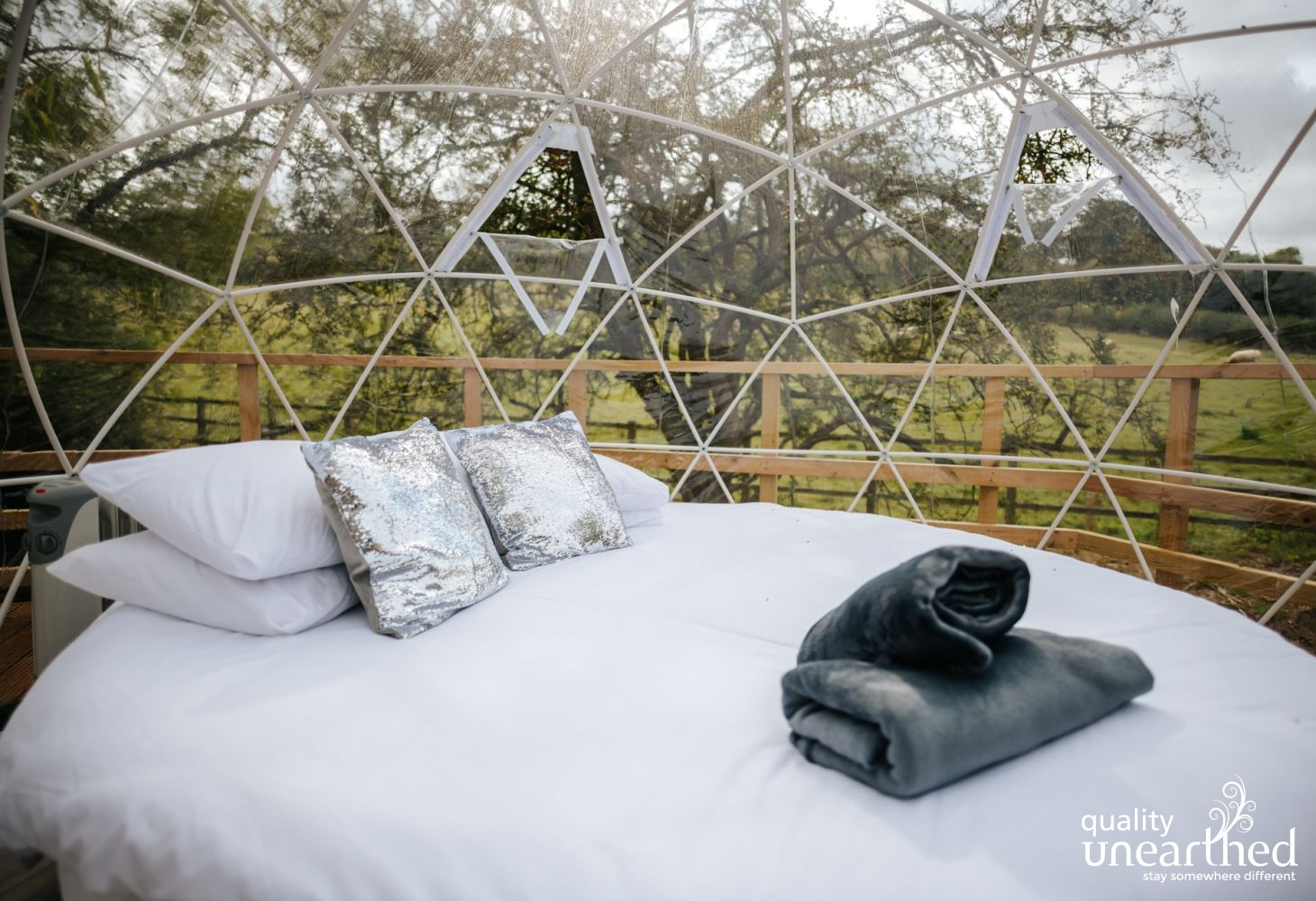 This geodesic dome for 2 is perfect for star gazing