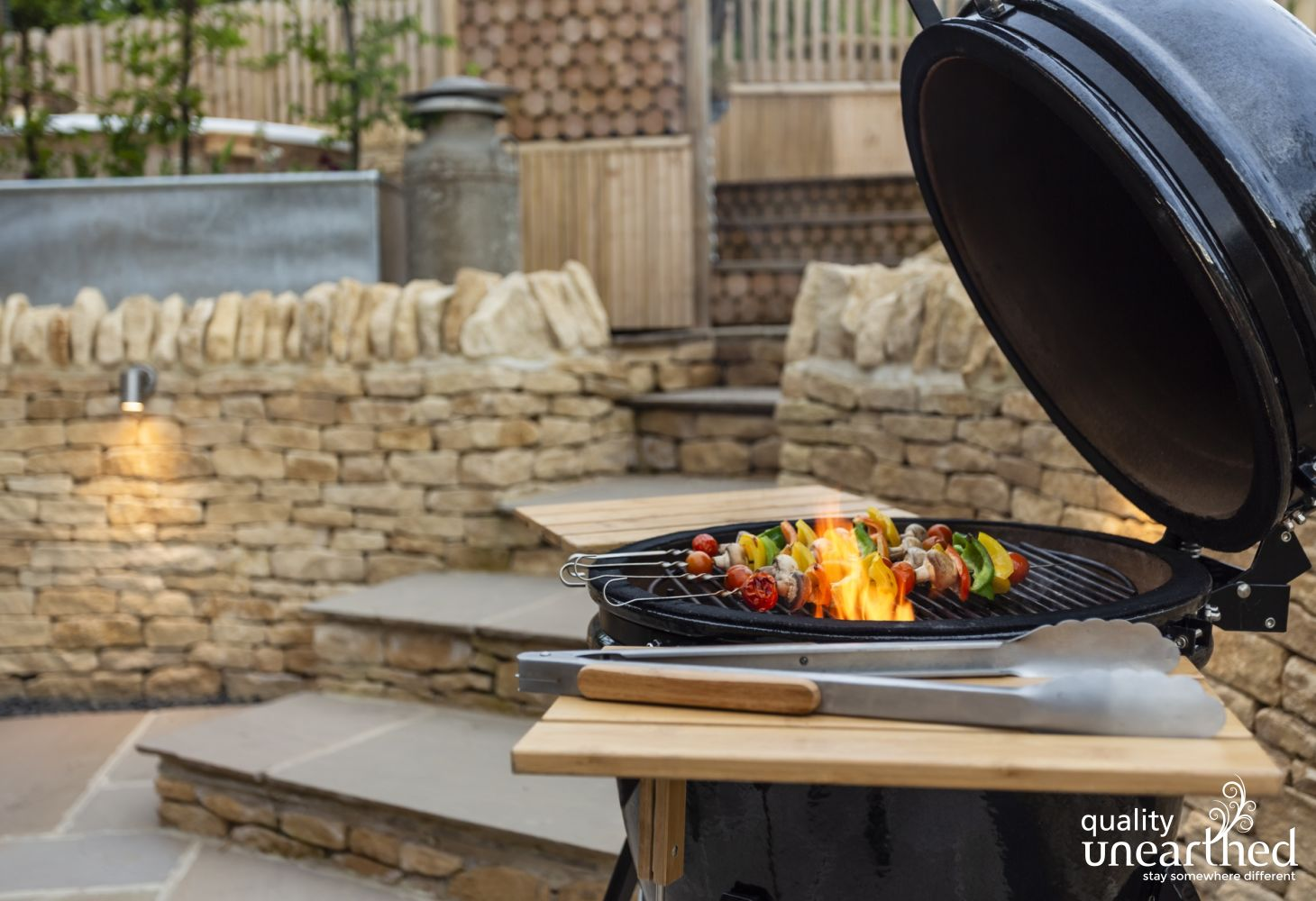 A bbq for bbq nights on the outdoor terrace by the Malvern Lodge