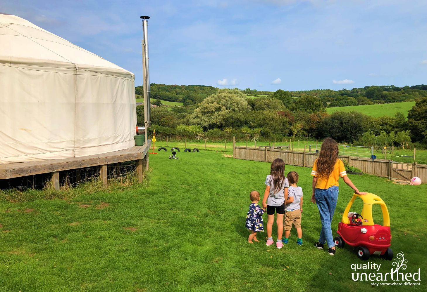 Family Yurts - Beneath The Waves in Isle of Wight