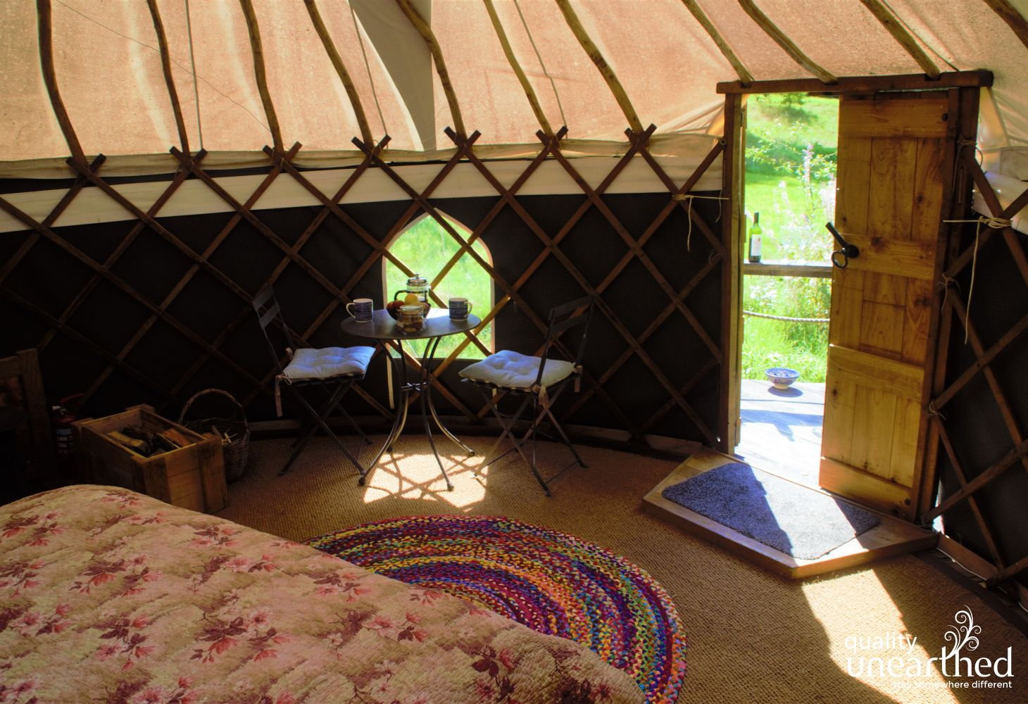 Rowan Yurt in Ceredigion