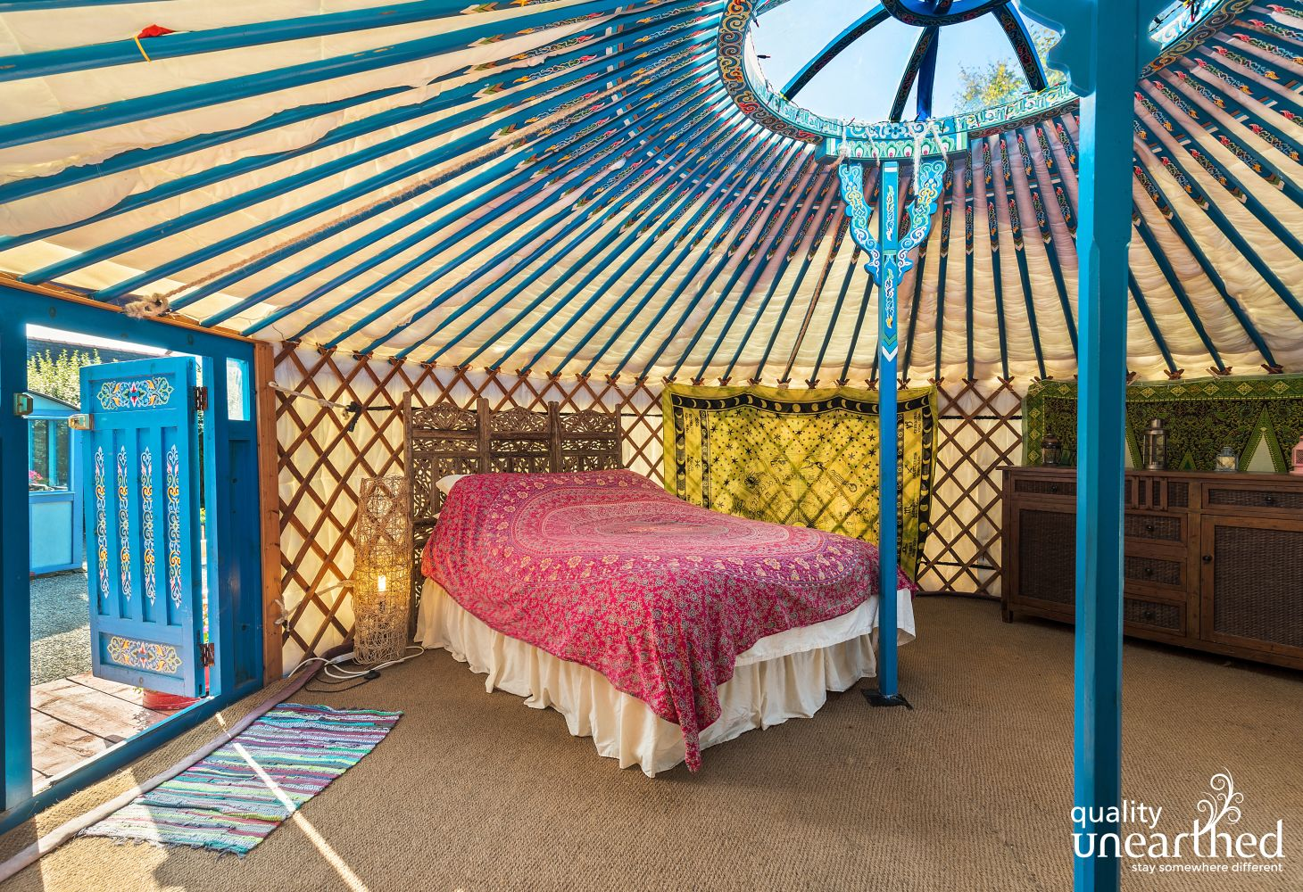 Monty's Yurt in Littlehaven