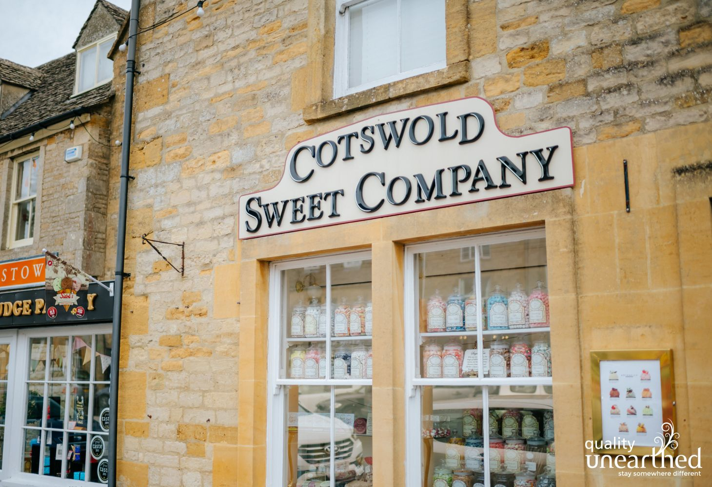 Stow On The Wold has the Cotswold Sweet company
