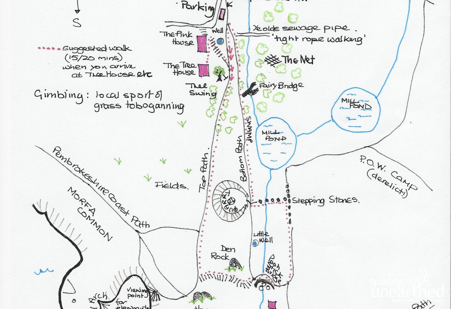 Shepherds Hut Map Of Valley