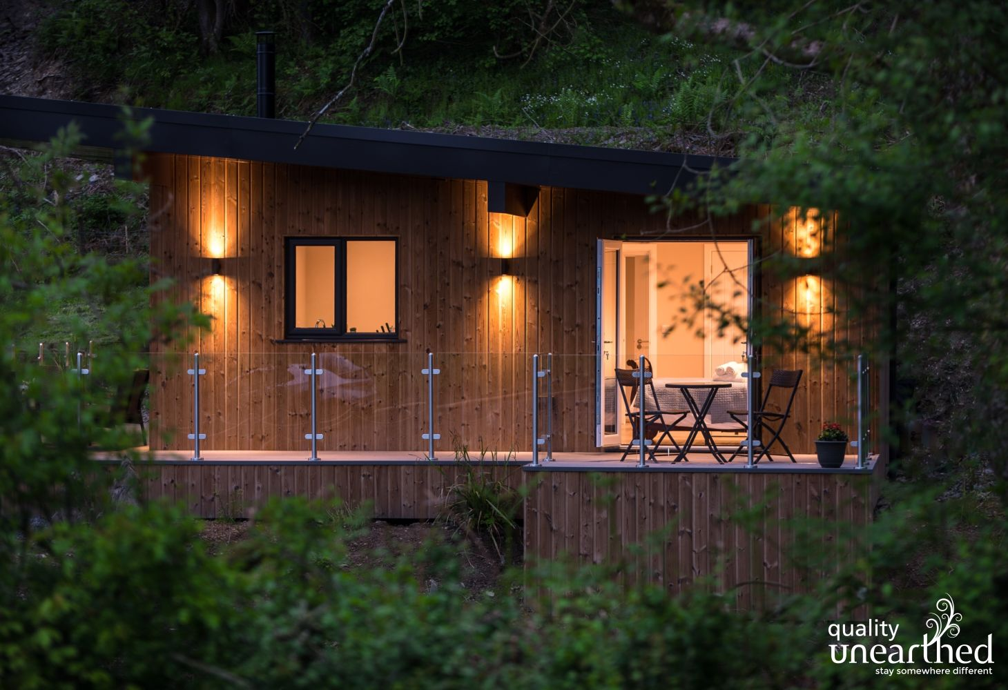 A boutique wooden cabin for couples of families