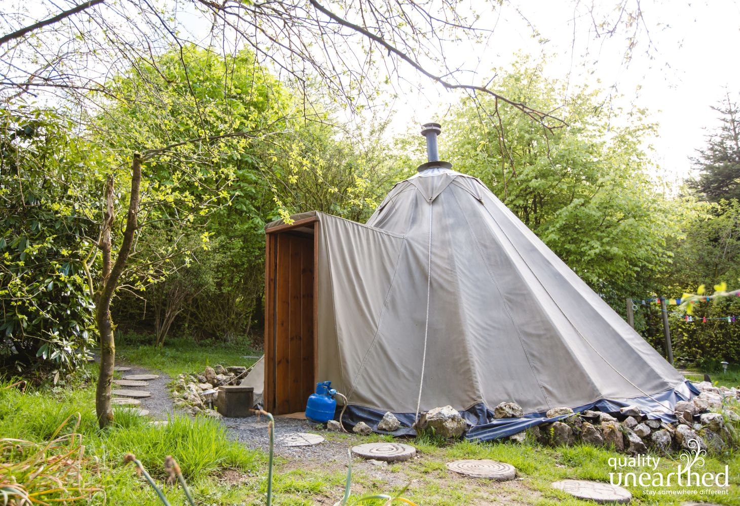 The Lavvu | Glamping Tipis in Carmarthenshire | Sleeps 4