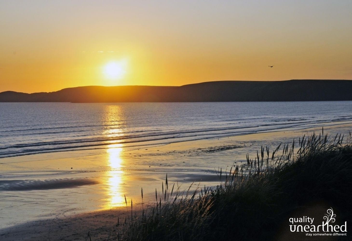 A stunning sunset over Newgale beach