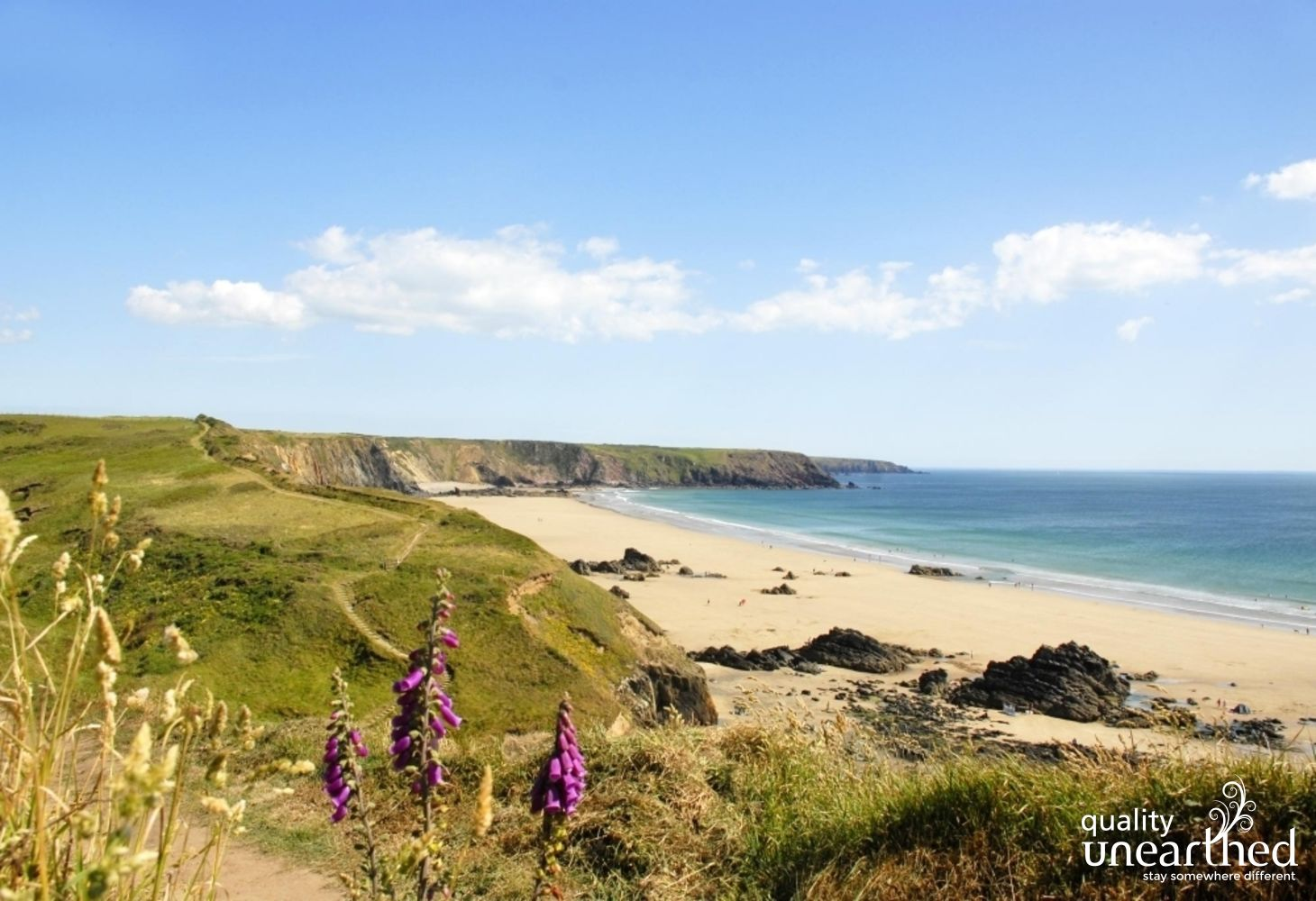 \'Marloes Sands\' beach, nr yurt glamping