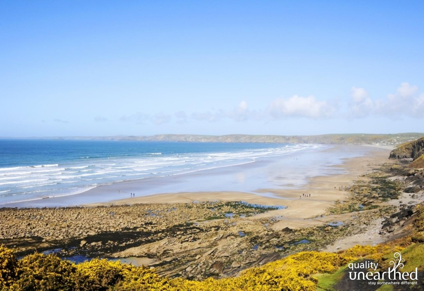 View of the beautiful Newgale beach from the east