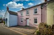 Manorbier pink double fronted holiday cottage