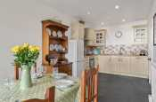 Shaker Cream Kitchen diner with Slate floor