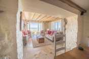 Nefyn holiday cottage with hot tub - sitting room