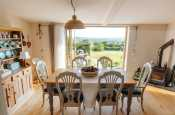 Welsh dresser farmhouse dining table and six chairs