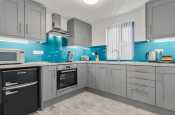 Luxury kitchen electric oven and hob