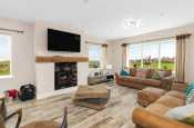 Spacious living room in Anglesey holiday cottage