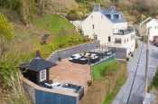 Aerial View of Edith Villa - Carmarthenshire Holiday Cottage sleeping 10