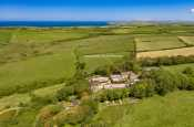 North Pembrokeshire Georgian Manor house aerial view