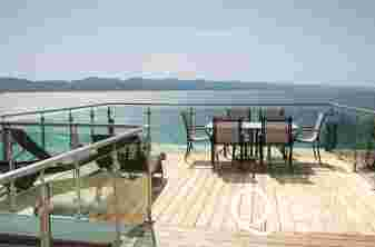 Criccieth holiday house - balcony