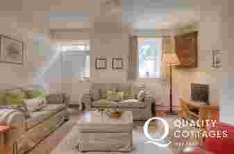 Cosy Sitting Room with 3 seater and 2 seater sofa and armchair