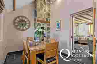 Dining Room, slate floors oak dining table and chairs