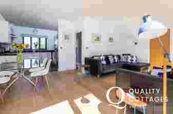 Open plan living in house sleeping 8