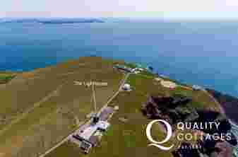 Aerial view Lighthouse St Ann's Head