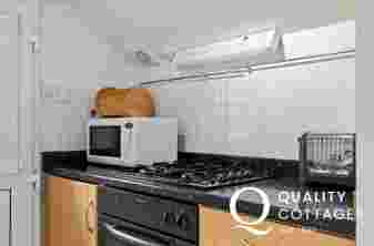 Shaker Kitchen with gas oven, microwave and toaster