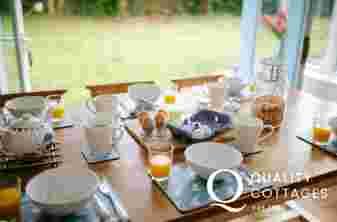 Garden room dining table
