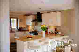 Dog friendly holiday cottage kitchen