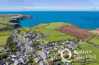 Aerial View of Trefin and Pembrokeshire Coast