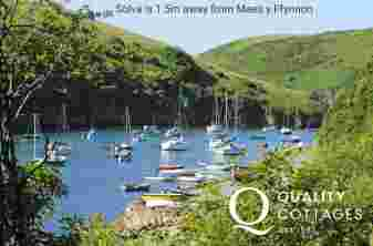 Solva - with it's pretty harbour, small sandy coves, shops, pubs, restaurants and cafes to explore