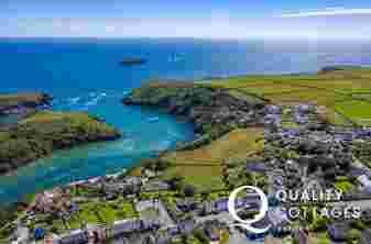 Solva coastline Aerial View