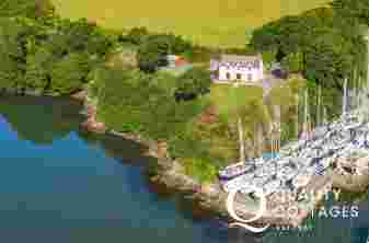 Aerial view of Badger Cottage in Burton, Pembrokeshire.