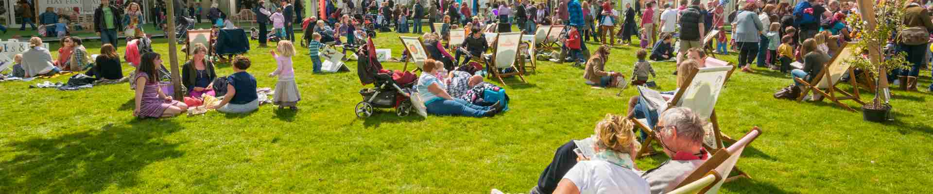 During May/June each year, Hay on Wye  is full of stories, ideas, laughter and music.