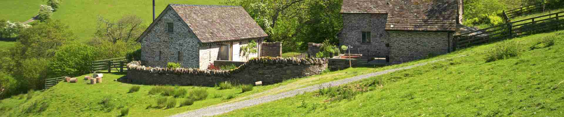 Cottages in the Welsh countryside