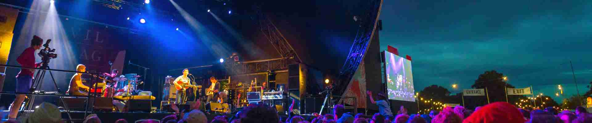 The Green Man Festival in August hosts a wide music spectrum as well as comedy, cinema, literature a