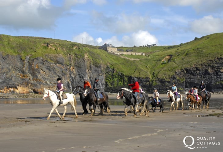 Nolton Riding stables offer both exhilarating beach rides