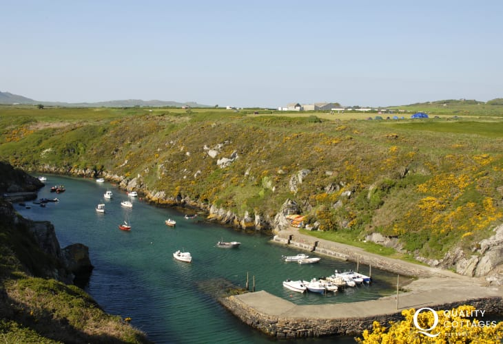 The picturesque little harbour of Porthclais on The Pembrokeshire Coast Path