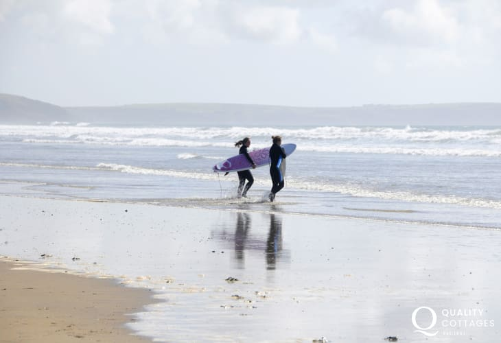Newgale Beach is another favourite with watersport enthusiasts - surfing, kayaking, kite surfing and sea fishing
