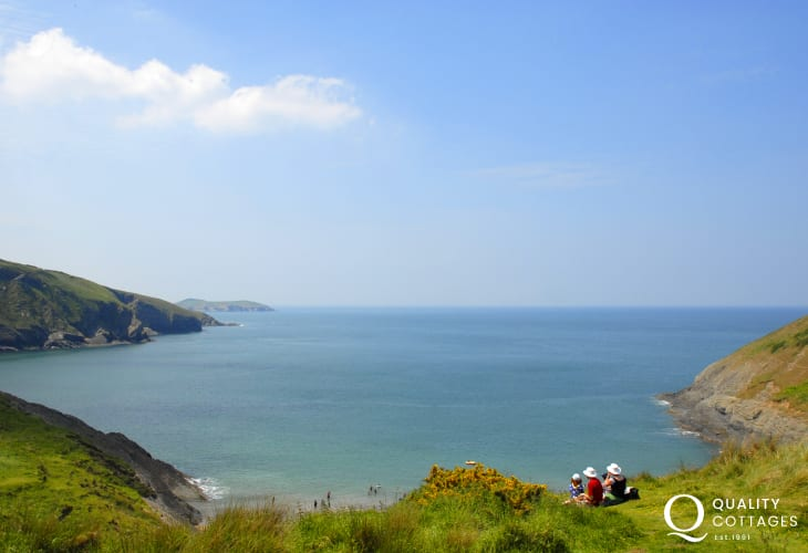The beautiful Cardiganshire Heritage Coast is within an easy drive