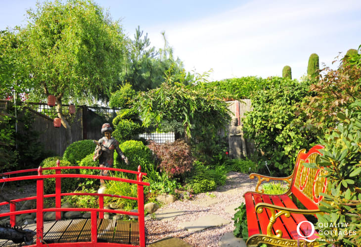 Derwen Garden Centre in Guilsfield with its themed garden displays and quality farm shop