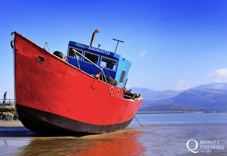 Picturesque boats to admire in Barmouth harbour