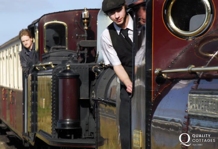 Do take a trip on the Ffestiniog Steam Railway which runs between Porthmadog and Bleanau Ffestiniog.