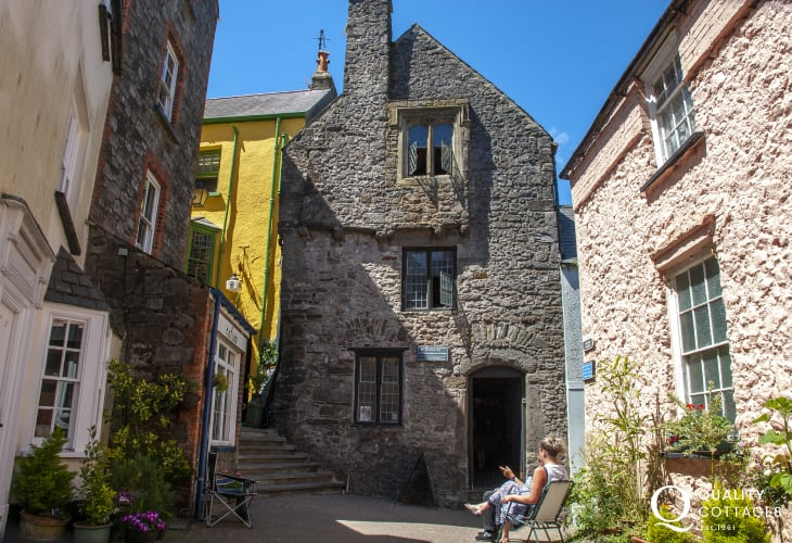 Tudor Merchants House (NT) and Tenby Museum, located high on Castle Hill