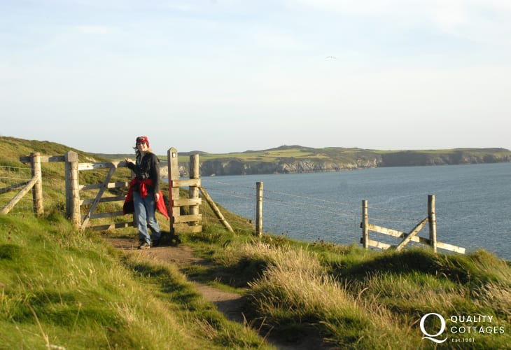 The Pembrokeshire Coast Path, part of the All Wales Coast Path, offers wonderful cliff top walking