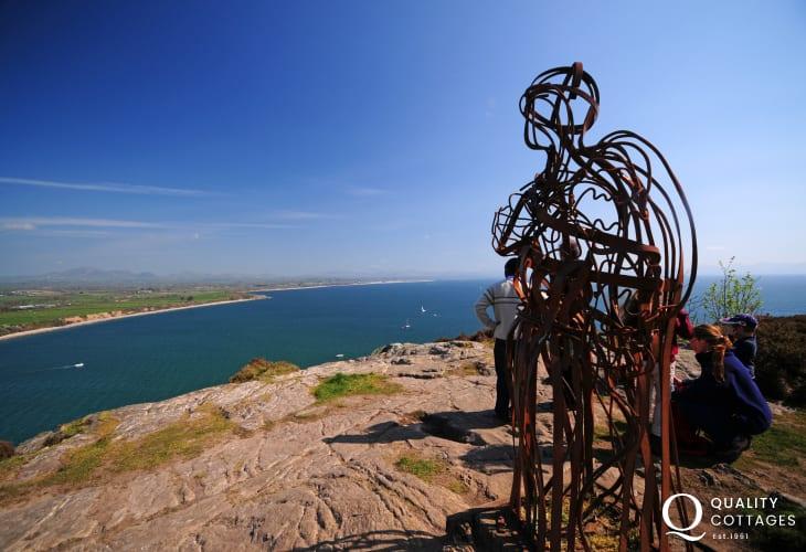 Views from the Llyn Coastal Path at Llanbedrog